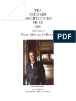 The Pritzker Architecture Price - Paulo Mendes Da Rocha (2006)