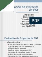 Evaluacion de Proyectos Tecnologicos