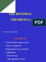 The Binomial Theorem 1