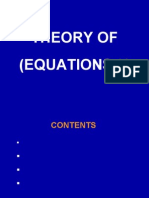 Theory of Equations 1