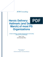 RTM Consulting Whitepaper Heroic Delivery