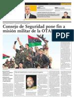 Consejo de Seguridad pone fin a misión militar de la OTAN en Libia