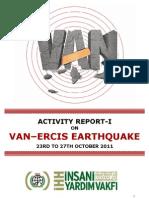Van-Ercis Earthquake Activity Report-27.10.2011