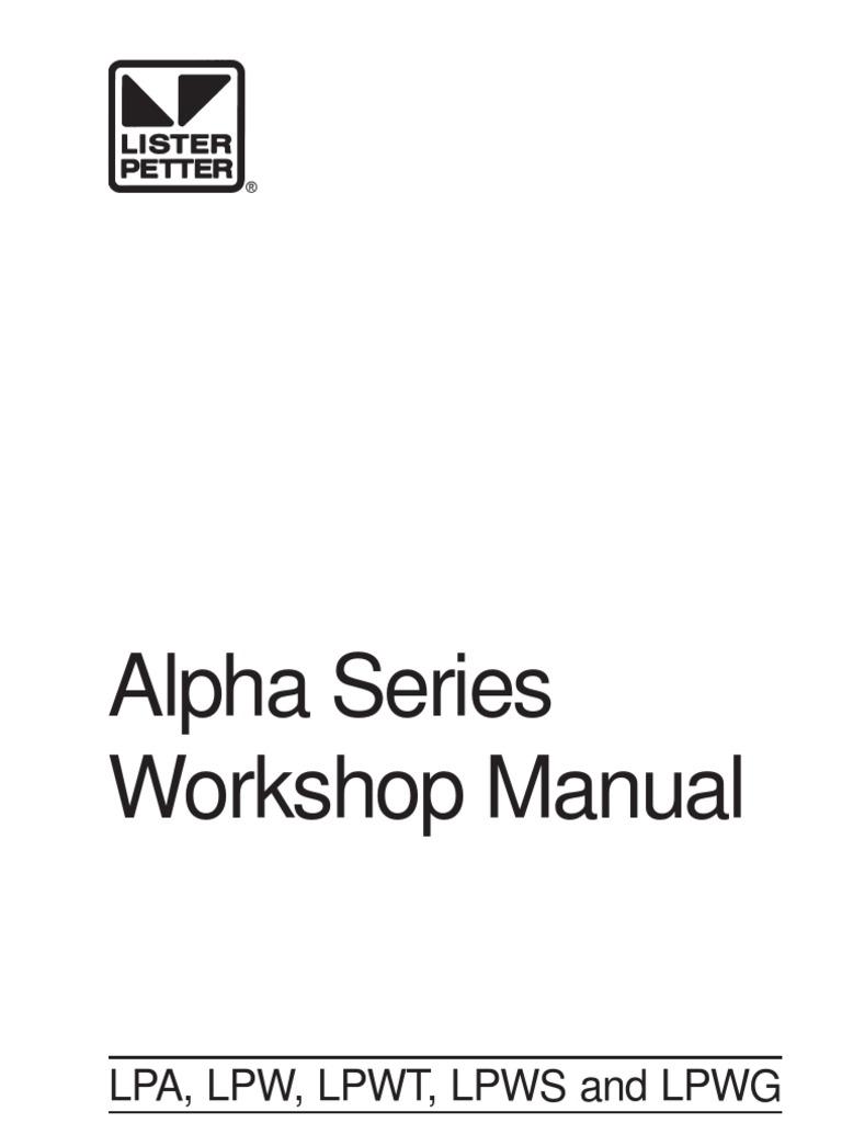 Lister workshop manual belt mechanical battery electricity swarovskicordoba Images