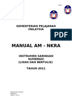 Manual Am Numerasi MAN S3 2011