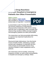 Adverse Drug Reactions Amongst Hospital