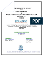 223 Recruitments & Human Resource Information System Practices at Rel