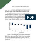 Correlation Hedge Fund Returns October 2011