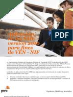 Aplicación de las NIIF versión 2010 para fines de VEN-NIF| PwC Venezuela