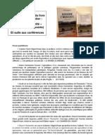 Extraits de presse - Livre & conférences Bruno Parmentier