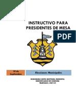 Instrucciones Para Presidentes de Mesa