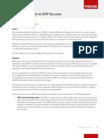 Five Critical Points for ERP Success