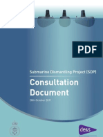 Submarine Dismantling Project consultation document