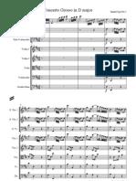 Handel Concerto Grosso Op6 No5 Score
