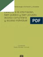 Derecho a la informacion, bien público y bien privado