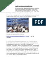 A poluição causada pelas sacolas plásticas