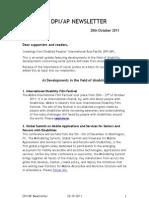 DPI-AP Email Update 28 October 2011