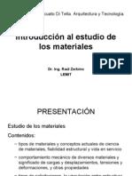Introduccion Al Estudio de Los Materiales