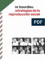 Bourdieu Las Estrategias de La Reproduccion Social