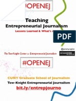 Teaching Entrepreneurial Journalism