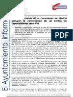 ALCALDÍA Presupuestos Comunidad de Madrid