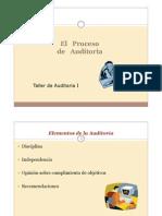 1 El Proceso de Auditoria Taller I