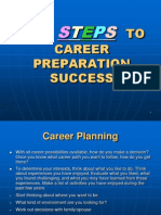 The Step to Career Preparation Success