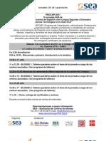 II Jornada SEA - Gacetilla y Programa de Talleres