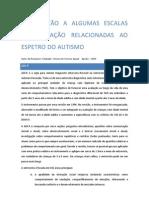 INTRODUÇÃO A ALGUMAS ESCALAS DE AVALIAÇÃO RELACIONADAS AO ESPETRO DO AUTISMO