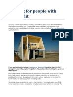 Housing for People With Bad Credit