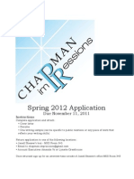Impressions Spring 2012 Application
