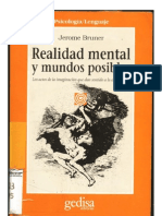 Bruner J.  Realidad mental y mundos posibles.