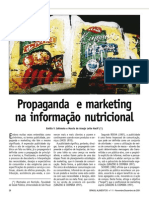 Propaganda e marketing na informacao nutricional