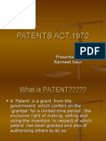 Patents Act,1970