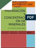 Preparacion y Concentracion de Minerales