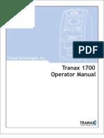 Tranax 1700 Operator Manual