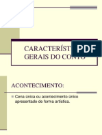 CARACTERÍSTICAS GERAIS DO CONTO