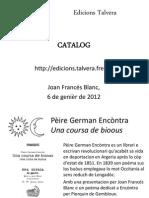 Catalòg de las edicions talvera
