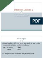 Morphemes Lecture+ 5