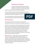 ADMINISTRACION DE ESCENARIOS