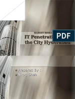 Market Research On IT Penatration over the city Hyderabad Power Point
