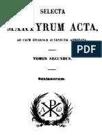 Actes Des Martyrs - Tome II