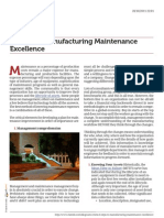 Manufacturing Maintenance Excellence