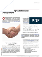 Six Sigma to Facilities Management