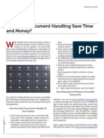 EAM Document Handling Saves Time and Money