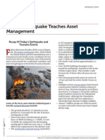 Earthquakes Can Teach Asset Management