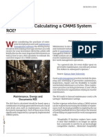 Calculating a CMMS System Roi