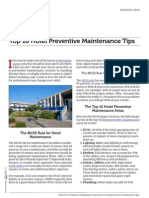 10 Hotel Preventive Maintenance Tips
