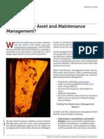 Choosing Better Asset and Maintenance Management