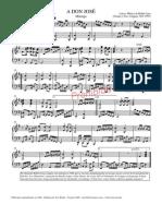 A Don José - Partitura y Letra
